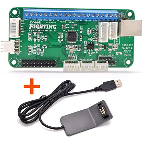 CtrlDepot Brook Universal Fighting Board Plus Arcade Fighting Stick PCB Kit Compatible PS3 PS4 PC Support One Touchpad/Turbo Key ()