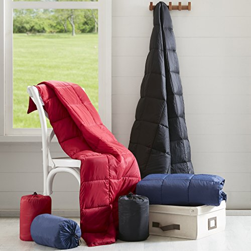 Packable Down Alternative Throw Black 50x60