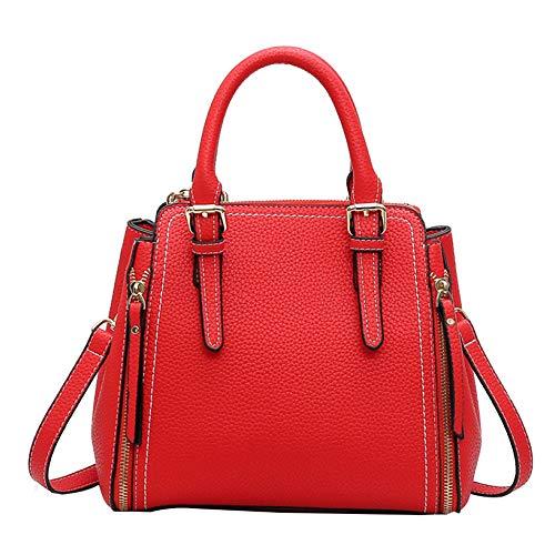 Sac à main pour femme Leisure Classic Fashion Pu Shoulder Messenger Red Tote