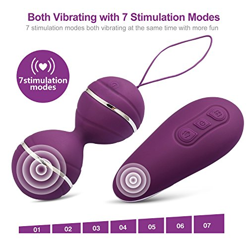 2812efaf7 Kegel Exercise Ball Vibration Bladder Control Devices 7 Patterns Waterproof  Electric Massage egg with Wireless Remote