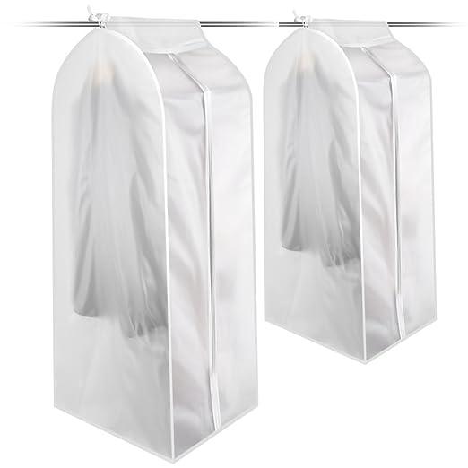 Fundas de Ropa PEVA a Prueba de Polvo Bolsas de Ropa con Cremallera Transpirable plástico Transparente Bolsa de Almacenamiento Limpiador seco Ropa ...