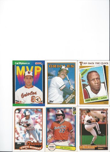 Lot of 100 Different Baltimore Orioles Baseball Cards - Baltimore The Store