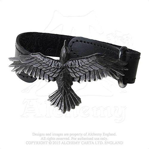 Alchemy Gothic A109 Black Consort Wriststrap (Alchemy Gothic Bracelet)