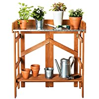 VYTAL Folding Potting Bench/Event Table (Brown)