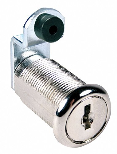 Alike-Keyed Standard Keyed Cam Lock Key # C205A, For Door Thickness (In.): 7/8, Bright Nickel by COMPX NATIONAL