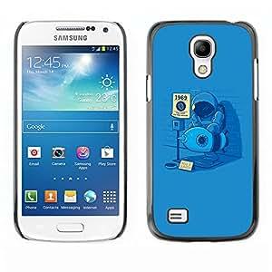TopCaseStore / la caja del caucho duro de la cubierta de protección de la piel - Funny Man On The Moon - Samsung Galaxy S4 Mini i9190 MINI VERSION!