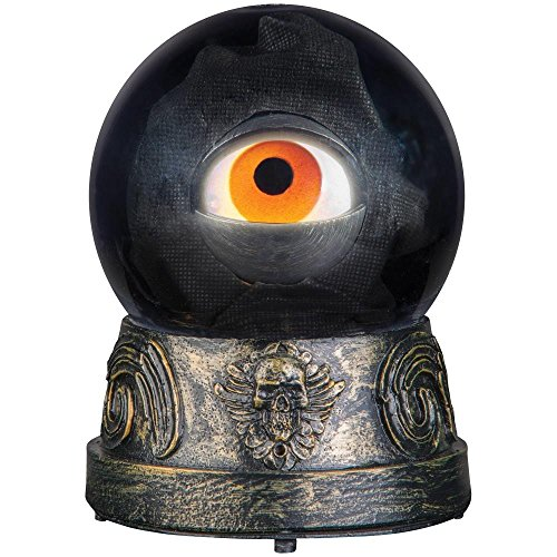 Animated Eyeball Crystal Ball Halloween Decoration