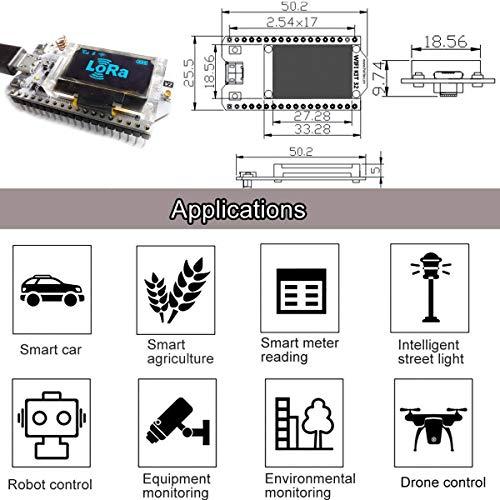 MakerFocus ESP32 Development Board WiFi Bluetooth LoRa Dual Core