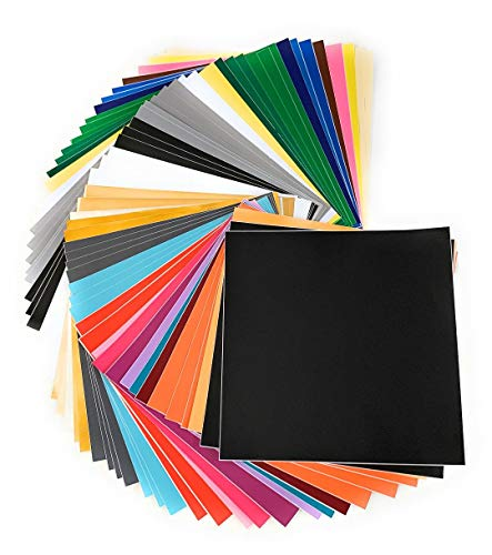 Premium Permanent Self Adhesive Backed Vinyl Sheets - 55 Pack 12