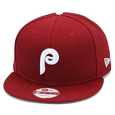 New Era 9fifty Philadelphia Phillies Baseball Snapback Hat Cap All Maroon/White MLB