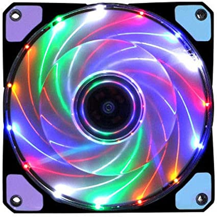 DIY 12V 12cm Neon Clear PC Computer Case Cooling Fan Mod With 15 LED Lights New