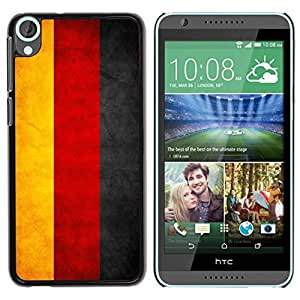 Paccase / SLIM PC / Aliminium Casa Carcasa Funda Case Cover - National Flag Nation Country Germany - HTC Desire 820