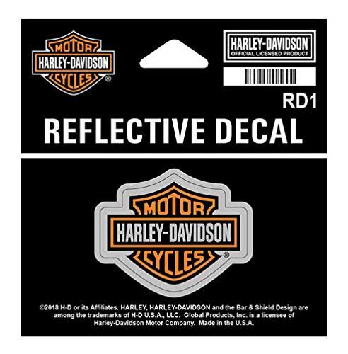 Harley-Davidson Reflective Bar & Shield Decal, XS Size - 1.75 x 1.3125 inch RD1