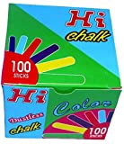 SQI Hi Chalk 100 Sticks Dustless By MaxxGallery ( Multi Colour )