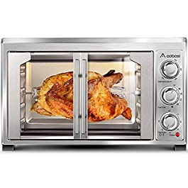 Toaster Convection Oven Countertop Aobosi Convection Toaster Oven Electric Rotisserie Oven Pizza Oven French Single Door…