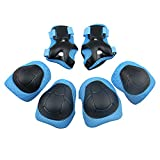 Vkenis Child's Pad Set with Knee Elbow and Wrist (Blue)