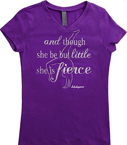 """Though She Be Little"" T-Shirt - Aqua or Purple"
