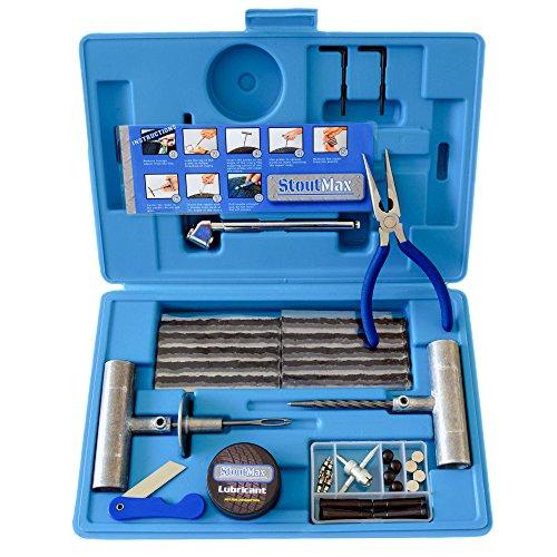 67 Piece Heavy Duty Flat Tire Repair Kit - Utv Tire Plug Kit