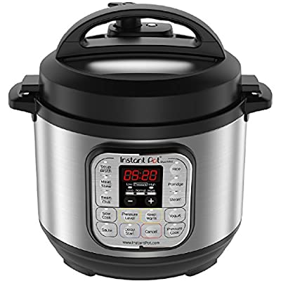Instant Pot Duo Multi-Use Programmable Pressure Cooker, Slow Cooker, Rice Cooker, Steamer, Sauté, Yogurt Maker and Warmer