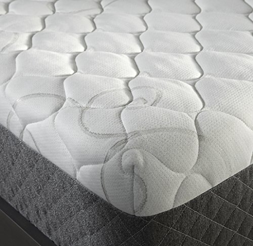 Sleep Innovations Taylor 12-inch Gel Memory Foam Mattress, ORIGINAL Cover, Made in the USA with a 20-Year Warranty - Queen Size