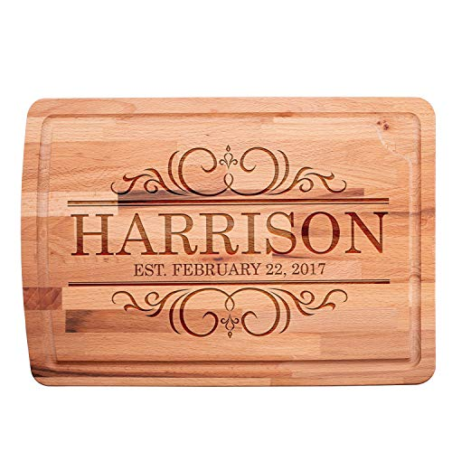 Personalized Cutting Boards For Kitchen Custom Cutting Boards Engraved Natural Wood Christmas Gifts Wedding Gifts Anniversary Gifts Housewarming Gifts for Women Corporate Gift Bridal Shower Gifts B2