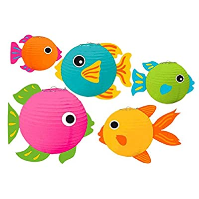 Amscan Fish Party Lantern Kit (241092): Kitchen & Dining