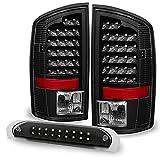 06 ram led 3rd brake light - Black 02-06 Dodge Ram 1500 03-06 Ram 2500 3500 Truck LED Tail Lights + 3rd Brake Lights Cargo Lamp