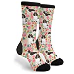 Packsjap English Springer Spaniel Men & Women Casual Cool Cute Crazy Funny Athletic Sport Colorful Fancy Novelty Graphic Crew Tube Socks 5