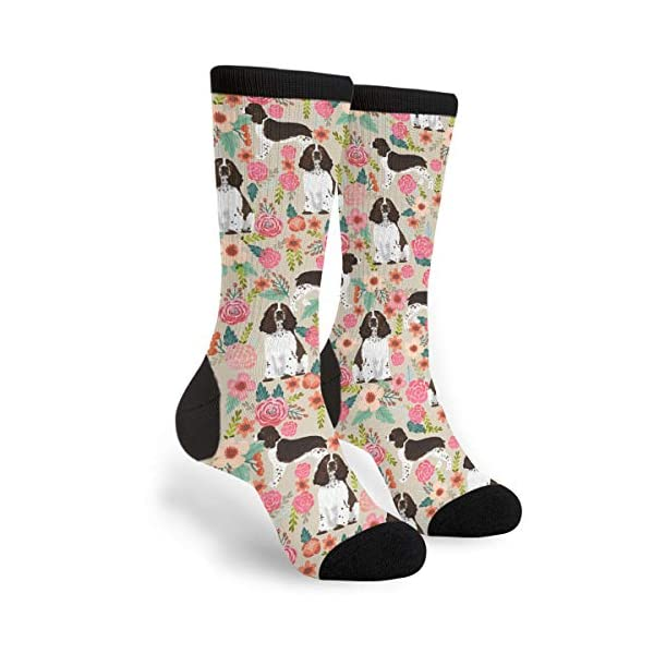Packsjap English Springer Spaniel Men & Women Casual Cool Cute Crazy Funny Athletic Sport Colorful Fancy Novelty Graphic Crew Tube Socks 1
