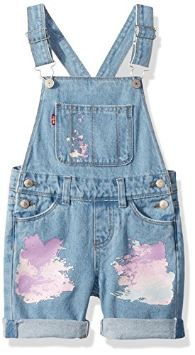 Levi's Girls' Little Denim Shortalls, Montauk, 6 by Levi's