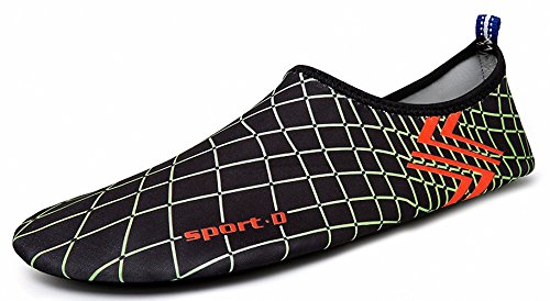 Aqua ZHENZHONG Swim Dive Dry Womens Shoes Slip Quick D Green Surf on Shoes Yoga Mens Water Beach Sports 7APArxYq