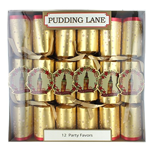 Party Pieces Christmas Crackers - Pudding Lane Big Ben Christmas Crackers - 12 Pack