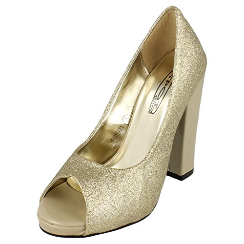 Spot On , Damen Pumps Light Gold