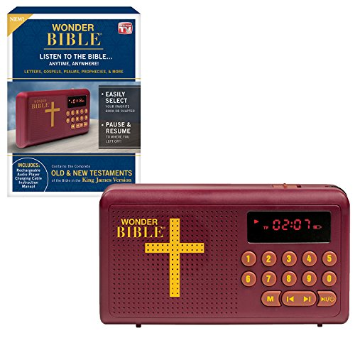 Wonder Bible KJV- The Talking Audio Bible Player (King James Version) New & Old Testament Endorsed by Pat Boone, As Seen on TV