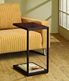 Coaster Home Furnishings 901007 Rectangular Snack Table, Dark Brown