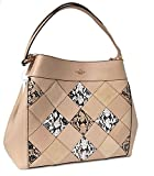 COACH Lexy Tote Snake Patch Beachwood Satchel Leather Handbag 57509