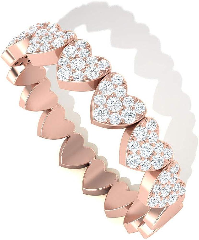 Anillo de eternidad de diamante certificado IGI de 0,31 quilates, anillo de aniversario de boda, anillo de aniversario de boda, anillo de compromiso de amor eterno para ella