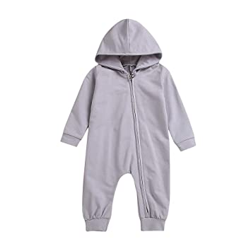 62edbf9f1d7 Amazon.com   Baby Jumpsuit Outfits Newborn Boys Girls Long Sleeve 3D  Dinosaur Hoodie Romper One-Piece Zipper Clothes Set (age  6-12 Months
