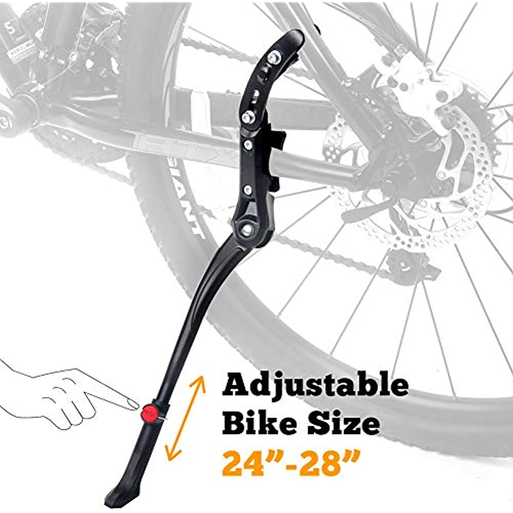 Bike Kickstand Adjustable Center Mount Aluminum Alloy For 24 26 27.5 28 29