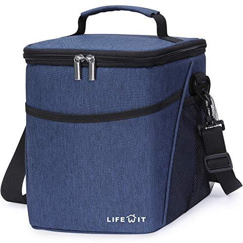 [해외]Lifewit 절연 도시락 도시락 도시락 가방 성인 남성 9L (12 캔) 소프트 쿨러 가방 방수 누출 방지 열 도시락 가방 작업  학교  피크닉 블루 / Lifewit Insulated Lunch Box Lunch Bag for Adults Men Women 9L (12-Can) Soft Cooler Bag Water-Resis...