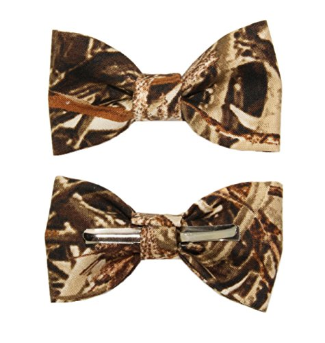 (Toddler Boy 4T 5T Duckweed Camouflage Clip On Cotton Bow Tie)