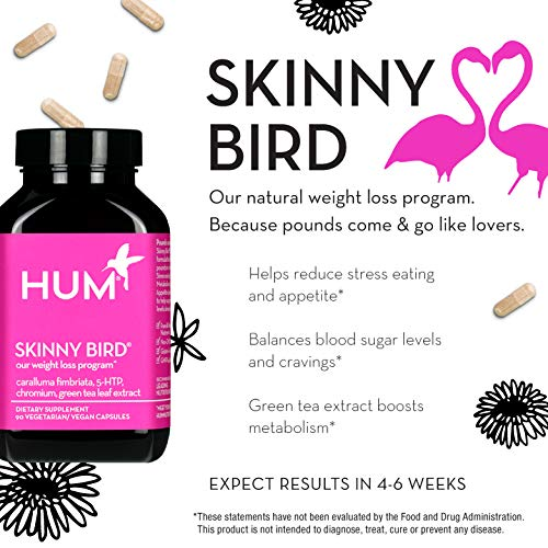 HUM Skinny Bird - Weight Management Support with Green Tea Extract, 5-HTP, Chromium & Caralluma Fimbriata (90 Vegan Capsules) by HUM (Image #2)