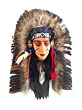 Native American Chief Feather Wall Hanging Southwest Decor -LG, OMA BRAND
