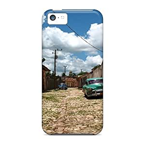 Excellent Iphone 5c Case Tpu Cover Back Skin Protector Old Cars On A Street In A Cuban Town