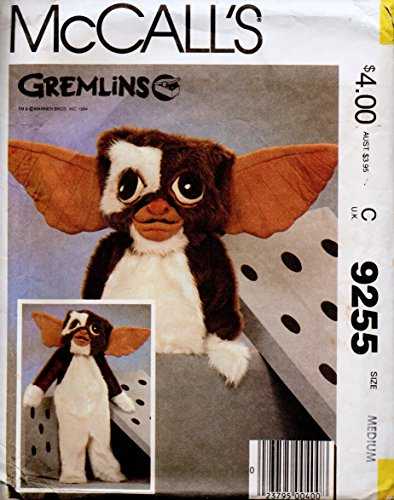McCall's 9255 Boys' & Girls' Gizmo Costume Sewing Pattern Size Medium 8-10