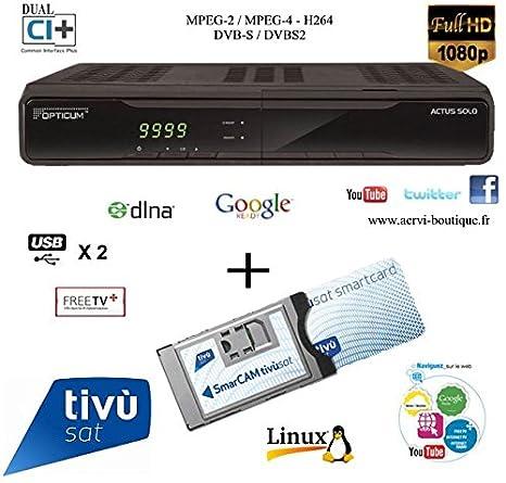 Receptor satélite HD xeofix HDCI 7200 con módulo y tarjeta ...