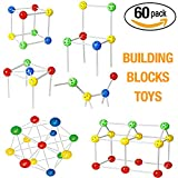 Image of Stacking Toys Build Blocks 60 Pcs Building Blocks for Toddlers Kids Boys Girls Teenagers and Preschool 3D Puzzles
