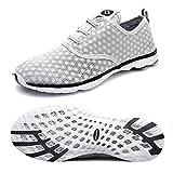 Dreamcity Women's water shoes athletic sport Lightweight walking shoes Grey 7.5 B M  US