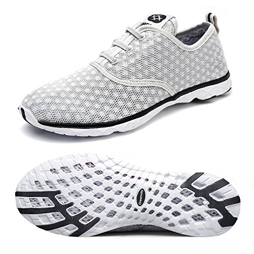 6d67561c8692 Dreamcity Women s water shoes athletic sport Lightweight walking shoes Grey  7.5 B M US
