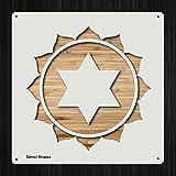 Heart Chakra Mandala Spirituality Mantra Plastic Mylar Stencil for Painting, Walls and Crafts, Item 230869